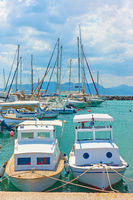 Fishing boats and yachts in the port