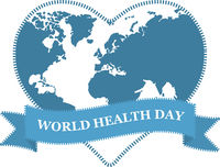 World health day. Globe in heart shape on white background.