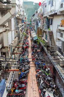 Parking zone in the city of Bangkok