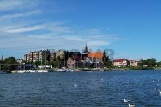 Stadt Wolin von der Wasserseite