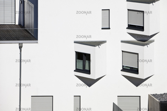 details of modern architecture at the Phoenix lake, Dortmund, Ruhr Area, Germany, Europe