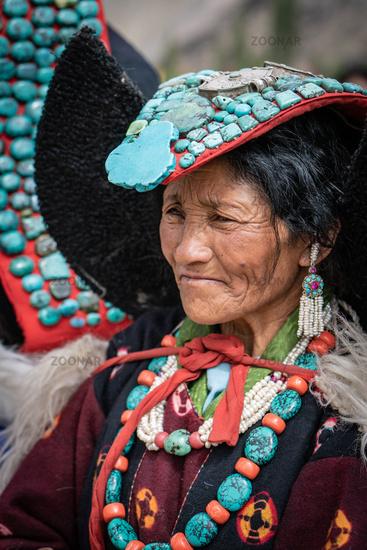 Old woman on Ladakh festival