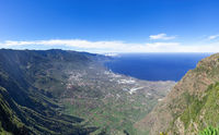 View over the El Golfo valley on the island of El Hierro