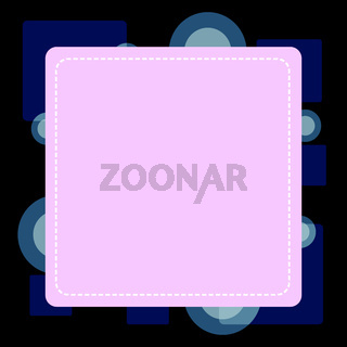 Dashed Line Blank Square in Color. Thin and Thick Lines. Empty Cutout Form in Frame against Bright Background. Advertising Coupon. Flat photo Art Design