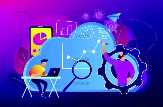 Cloud management concept vector illustration.