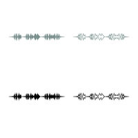 Soundtrack pulse music player audio wave equalizer element floating sound wave icon outline set grey black color