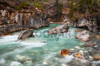 Marble Canyon in Kootenay National Park, British Columbia