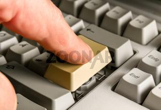 Pressing the Enter Button