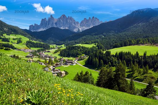 Villnoess valley in South Tyrol