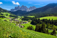 Villnoess valley in South Tyrol