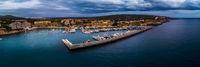 Aerial view, luxury marina Port Adriano, El Toro, Spain, Balearic Islands, Mallorca