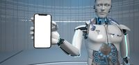 Humanoid Robot Medical Assistant Smarthone
