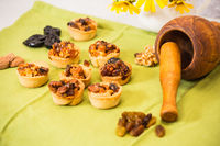 Baking with candied nuts and dried fruits
