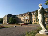 Side wing of the New Castle in Stuttgart