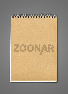 Spiral closed notebook mockup
