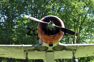 View of North American A T6 Airplane at Naval Museum of Tigre