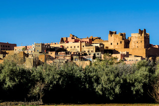 old village in morocco desert, photo as background