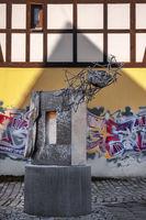 Art in front of the Malzhaus in Plauen (Vogtland)