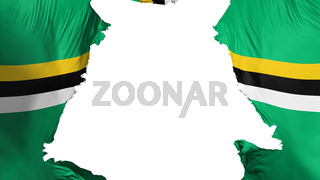 Dominica flag ripped apart