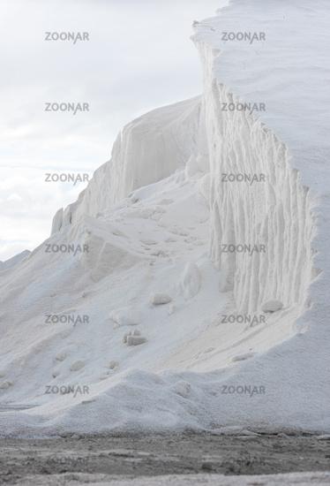 hill of pure sea salt