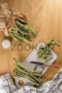 Heap of green beans