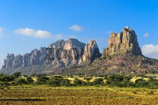 Grosser Afrikanischer Grabenbruch, nördliche Ausläufer mit dem Gheralta Bergmassiv, Tigray,Äthiopien