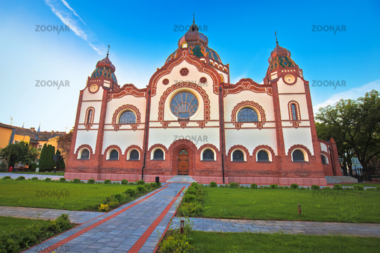 Subotica synagogue colorful morning view