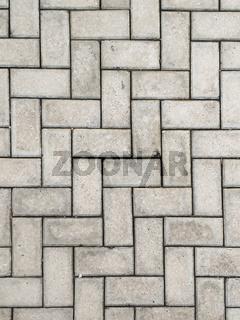 Close-up rectangular concrete block blocks zig-zagged.