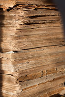 Pile of the antique soft books