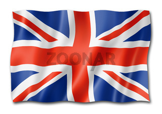 British flag isolated on white