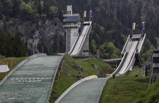 Ski Jump Arena Oberstdorf, Allgäu, May, Germany, Europe