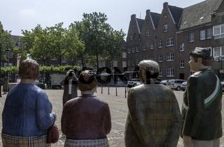 Skulpturen am Marktplatz,  Rees, Niederrhein, NRW