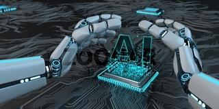 Humanoid Robot Microchip AI