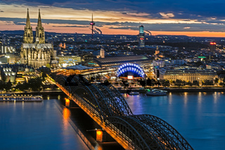 Night citycape of Cologne