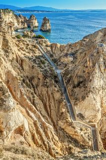 Portugal Lagos Ponta De Piedade Steps