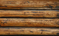 Background texture of vintage wooden logs wall