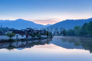 beautiful ancient villages at dawn