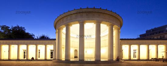 Elisenbrunnen in the evening, Aix-la-Chapelle, North Rhine-Westphalia, Germany, Europe