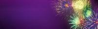 feuerwerk lichter glitzer banner