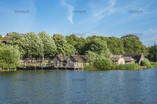 Wallmuseum, slavic village wit the lake Wallsee in Oldenburg in Holstein
