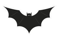 Bat icon or vampire symbol. Halloween paraphernalia.