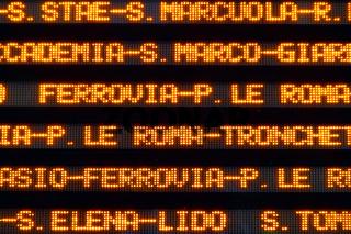 Vaporetto info board