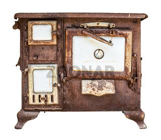 Rusty Vintage Stove Or Range