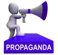 Propaganda Megaphone Message From North Korea 3d Illustration