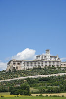 Basilica San Francesco, cityscape, Assisi, Italy, Europe