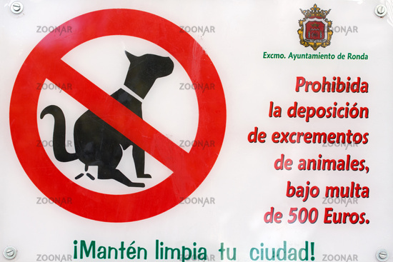 Signs in Andalusia. 002
