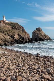 The coast and the sea in the Cabo de Gata of Almeria