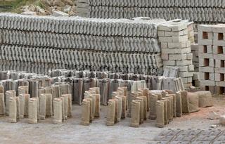 Mud tiles factory in Madagascar