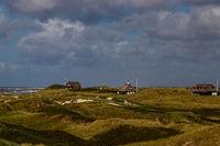 Cottages between dunes