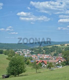 der Ort Oberndorf(Jossgrund) im Spessart,Hessen,Deutschland